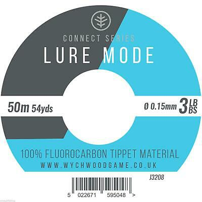 Wychwood Lure Mode 100% Fluorocarbon Tippet Material*5 Sizes*Trout Game Fishing • 5.95£