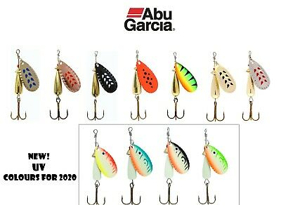 Abu Garcia Droppen Spinners*11 Colours UV 4 Weights*Trout Perch Salmon Chub Lure • 4.50£
