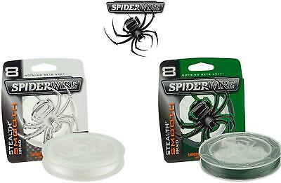 Spiderwire Stealth Smooth 8 Braided Line*2 Colours*3 Lengths*Carp Pike Fishing  • 21.98£