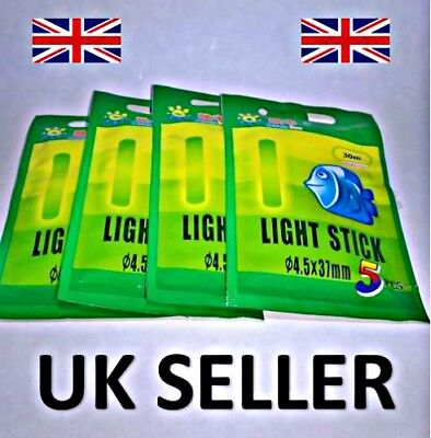 Fishing Glow Stick Lights 4.5 Mm X 37 Mm Packs Of Five • 2.98£