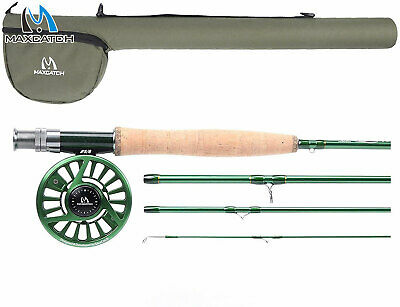 Maxcatch Premier Fly Fishing Rod With Avid Fly Reel And Rod Case, 3/4,5/6,7/8wt • 78.33£