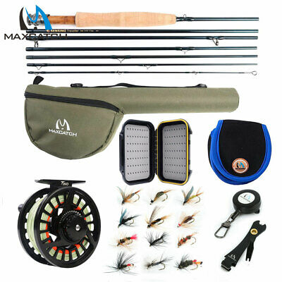 Maxcatch Travel Fly Fishing Combo 5/6 7/8Weight, 7 Piece Fly Rod And Reel Outfit • 83.70£