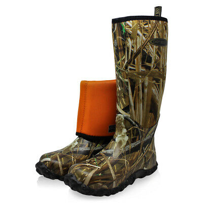 Dirt Boot Neoprene Wellington Muck Field Hunting Boots Mallard Marsh Camo • 49.99£
