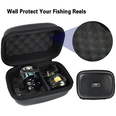 Fishing Reel Case For Spinning Reel Baitcasting Reel Protective Storage Bag Box • 12.94£