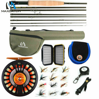 Maxcatch Alltime Traveller Fly Rod Combo, 5/6/8wt 8-Piece Fishing Rod, Reel,Line • 94.35£