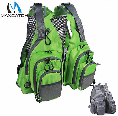 Maxcatch Fly Fishing Vest Adjustable Mutil-Pocket Packs With Breathable Mesh  • 32.23£