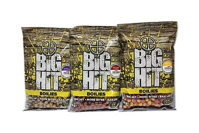 Crafty Catcher Big Hit 15-20mm Boilies 1kg Full Range 3-4 Free Pop Ups Included • 7.99£