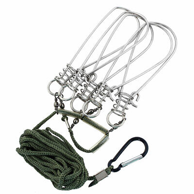 Fishing Catch Stringer Lock Angling Snap Hook Line Tackle Carabiner • 7.24£
