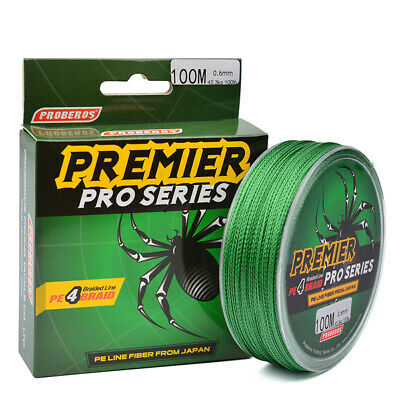 100M 4 Strands Braided Fishing Line Spectra Extreme PE Dyneema Super Strong UK • 5.27£