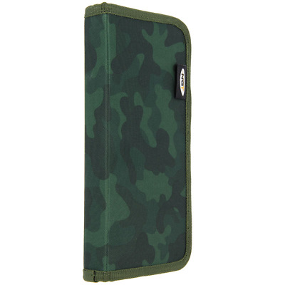 Ngt Camo Green Stiff Rig Wallet With Pins Zip Up Case Carp Coarse Pike Fishing  • 9.99£