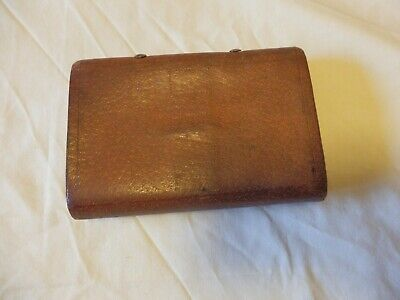 Rare Vintage Leather Fly Book With Clips Etc Excellent Condition 6 X4 1/8 X1 1/4 • 89.99£