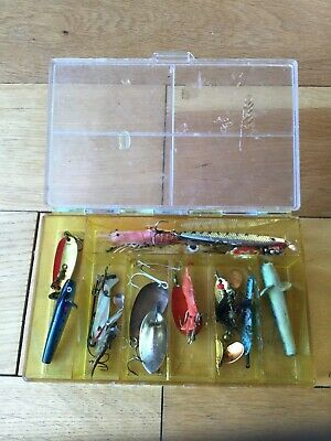 Box Of Old Fishing Lures. • 14.99£