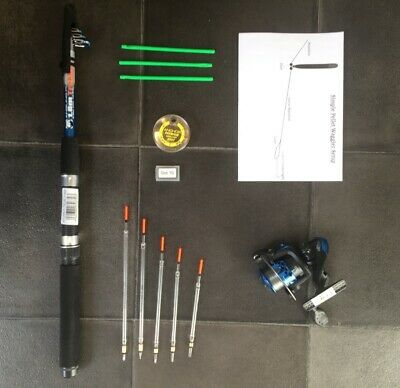 Telescopic Travel/starter Kit ,6 Ft Rod & Reel Complete Set For Coarse Fishing  • 19.99£