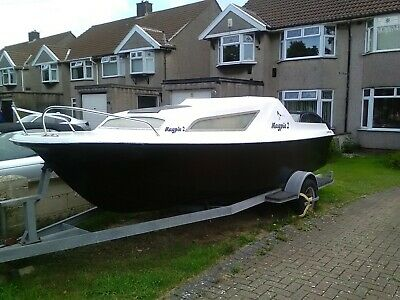 Used Boat Projects -Seasafe Pacific 550 18ft Fishing Boat. • 465£