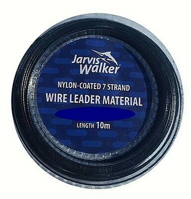 Jarvis Walker Coated 7 Strand Trace Wire + Free Crimps 10mtrs 20lb Sea, Pike • 3.25£