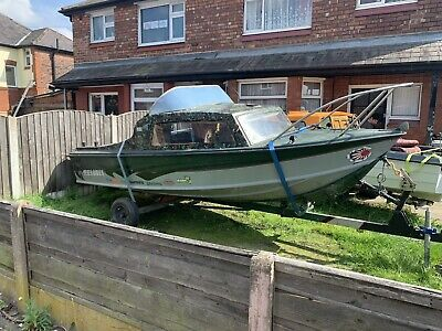 Fishing Boat With Trailer Project/spares Or Repairs • 0.99£