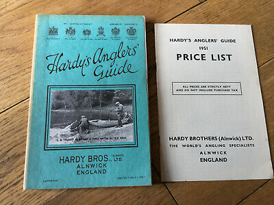 A Vintage Hardy Fishing Catalogue. Anglers Guide 1951 + List. • 34.99£
