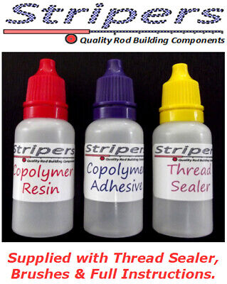 Rod Building & Repair. A Superb Copolymer Thread Coating System Coats 40 Guides. • 9.99£
