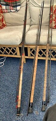 3 X Normark Fishing Rods Micro Lite Match 13 Ft  2 X Titan Match 12 Ft • 80£