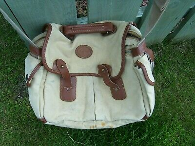 Pre Owned Barbour Fishing Bag With Leather Mounts Good Quality Well Used • 12£