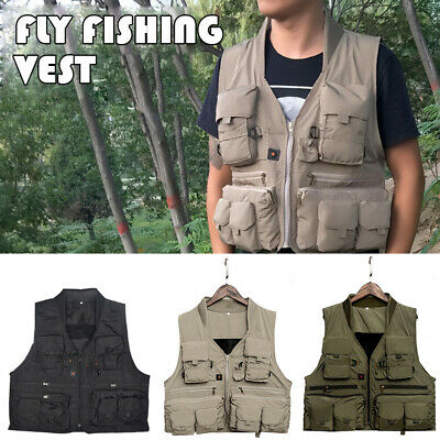 Multifunction Camping Quick Dry Hiking Fishing Vest Multi Pocket Outdoor Sport • 16.69£