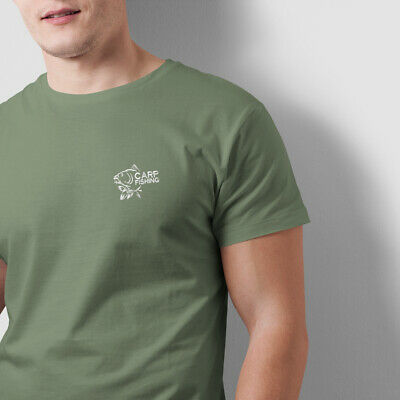 Carp Fishing Clothing Gifts Embroidered Heavyweight T Shirt. • 10£