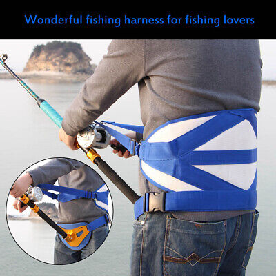 Fishing Fighting Harness Stand Up Offshore Back Belt Waist Rod Holder Padded • 19.99£