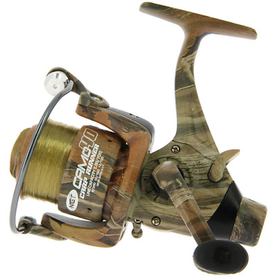 CAMO 40 CARP FISHING REEL WITH 12LB LINE & SPARE SPOOL Angling Pursuits • 16.75£