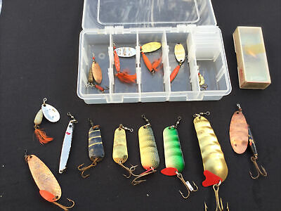Group Of Old Abu Fishing Lures. • 24.99£