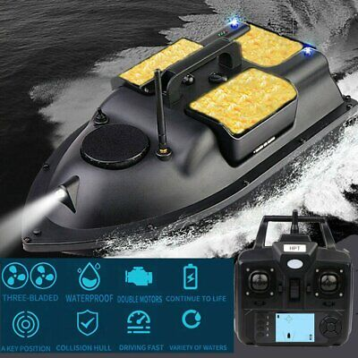 500M RC Wireless GPS Fishing Bait Boat Carp Hook Post Speedboat With 3 Hoppers • 287.99£