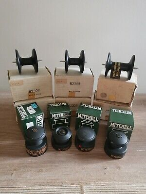 Job Lot Collection Of New Old Stock Mitchell Fishing Reel Spools In Boxes • 14£