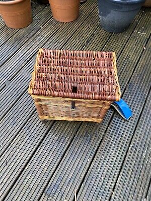 Old Wicker Fishing Bait Basket - Fisherman • 3.40£