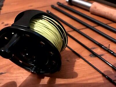 WYCHWOOD QUEST 8'6   #4 Weight FLY ROD & AIRFLOW 3/4 Weight FLY REEL & LINE • 85£