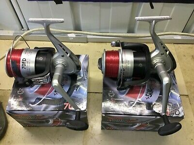 2 X 13FT Beach Casting Sea Fishing Rods Reels  SilK 70 Reels Ron Thompson Rods  • 25£