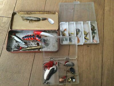 3 Boxes Of Old Fishing Lures / Spinners Etc. • 19.99£