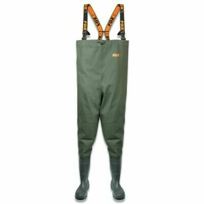 Fox Heavy Duty Nylon Chest Waders SIZE 10  Black Friday DEAL CFW062 • 79.99£