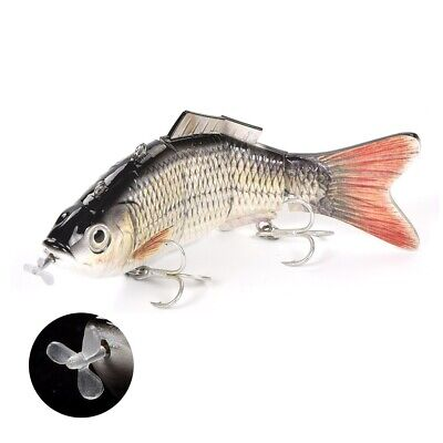 Robotic Electronic Fishing Lure 3d Jointed Usb Rechargeable Pike Live Bait Uk • 24.99£