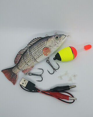 Large ROACH Electric / Robo Lure Live Bait Pike Perch Fishing | Rechargeable UK • 18£