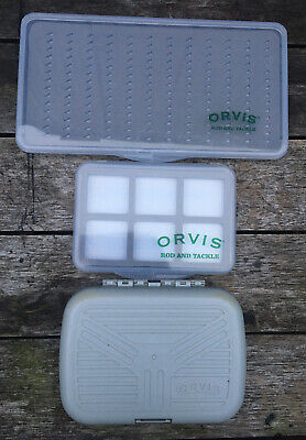 Job Lot Of 3 Orvis Fly Boxes For Wet Dry Flies Fly Fishing New Unused • 16£