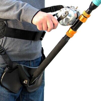 Boat Fishing Rod Holder Fighting Belt With Back Harness Complete Package • 30.93£
