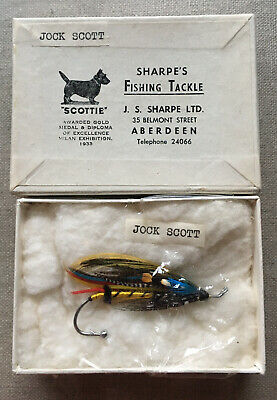 "Vintage Sharpe's Aberdeen ""Scottie"" Famous Jock Scott Broach Fishing Collector • 45£"
