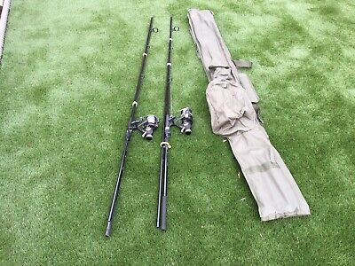Pair Carp Fishing Rods And Reels Collect Only • 60£
