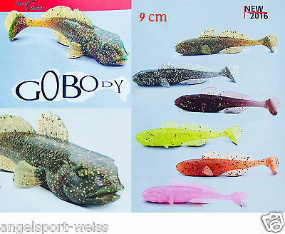 6 PC Sänger Iron Claw Gobody Grundel 9 CM 6 Colours Fishing Bait Rubber Fish • 6.19£