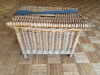 Vintage Wicker Fishing Basket - Seat • 40£