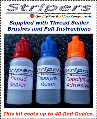 Rod Building & Repair. A Superb Epoxy Thread Coating System Coats 40 Guides. • 9.99£