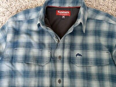 Simms Cold Weather Fleece Lined Fly Fishing Shirt • 45£