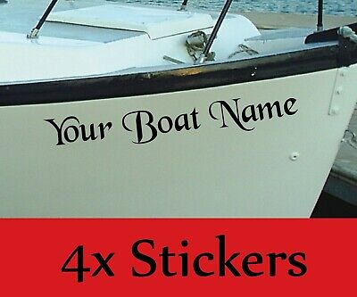 PERSONALISED BOAT NAME Decals / Stickers / Graphics X4 • 6.99£
