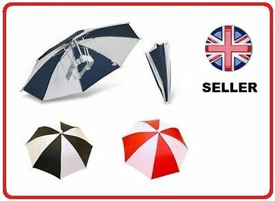 Umbrella Hat Cap For Golf Fishing Camping Kids Fancydress Foldable Brolly • 2.99£