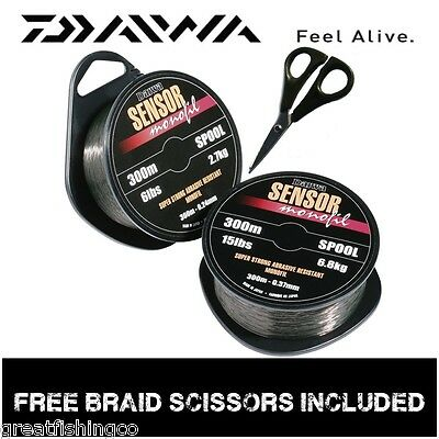 Daiwa Sensor Line 300m Plus Free Braid Scissors • 6.99£
