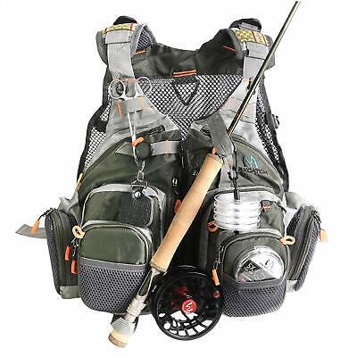 Maxcatch Fly Fishing Vest Mesh Vest Pack Free Size • 36.89£